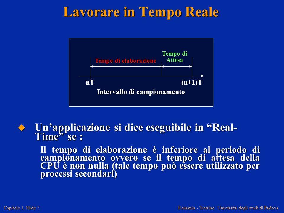 Romanin - Trestino Università degli studi di Padova Capitolo 1, Slide 8 Perché non usare un General Purpose Processor (GPP), come il Pentium, al posto di un DSP.