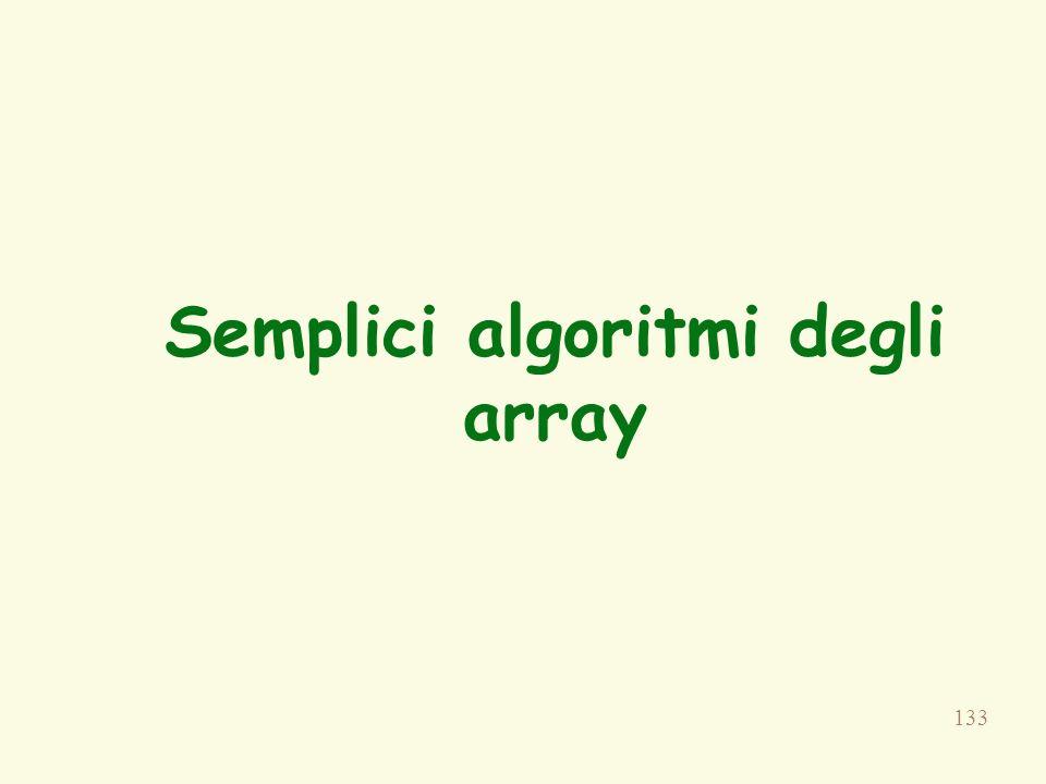 133 Semplici algoritmi degli array