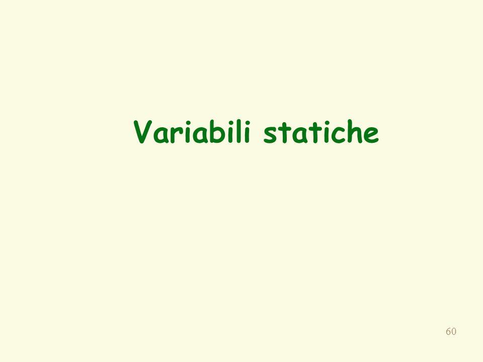60 Variabili statiche
