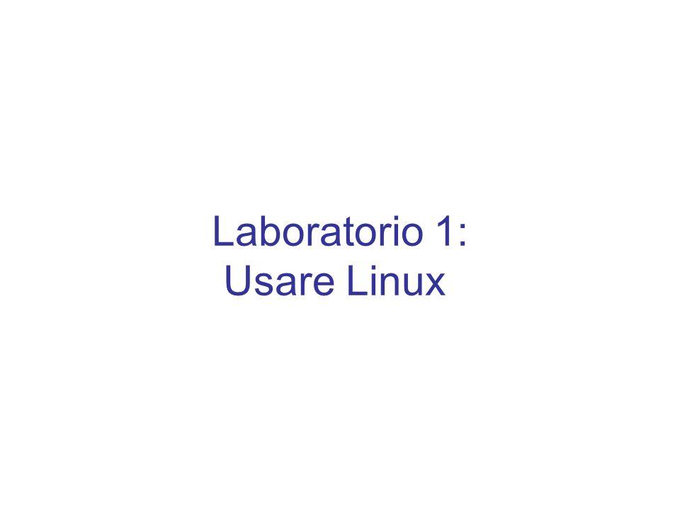 Laboratorio 1: Usare Linux
