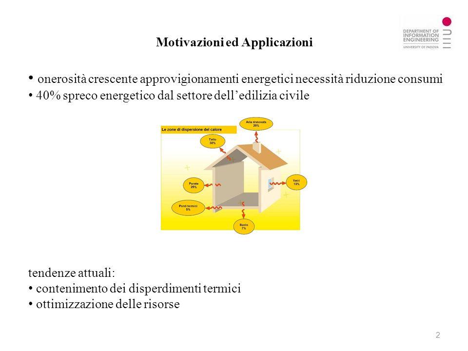Motivazioni ed Applicazioni onerosità crescente approvigionamenti energetici necessità riduzione consumi 40% spreco energetico dal settore delledilizi