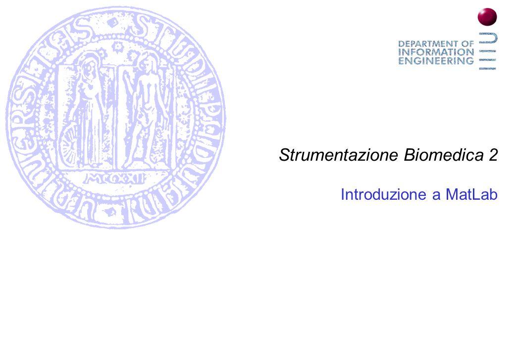 Strumentazione Biomedica 2 Introduzione a MatLab