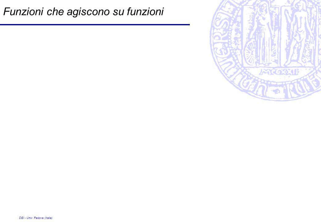 DEI - Univ. Padova (Italia) Funzioni che agiscono su funzioni