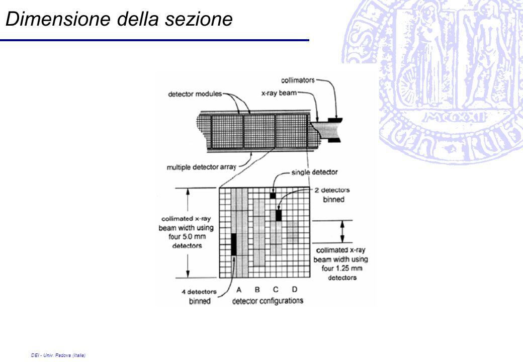 DEI - Univ. Padova (Italia) Dimensione della sezione