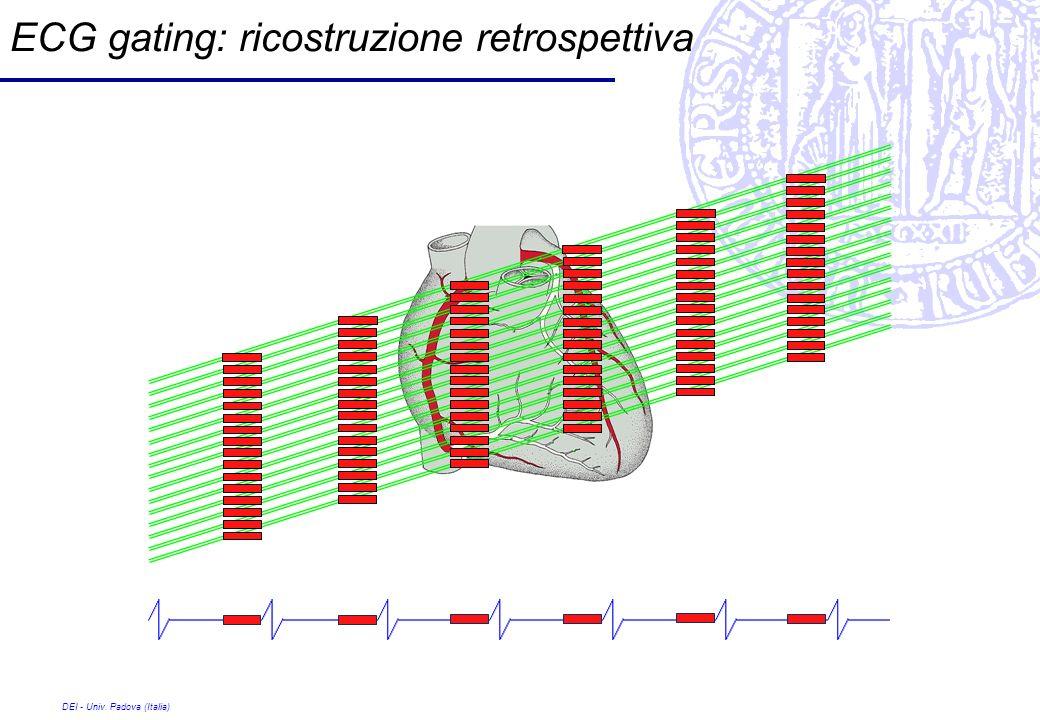 DEI - Univ. Padova (Italia) ECG gating: ricostruzione retrospettiva