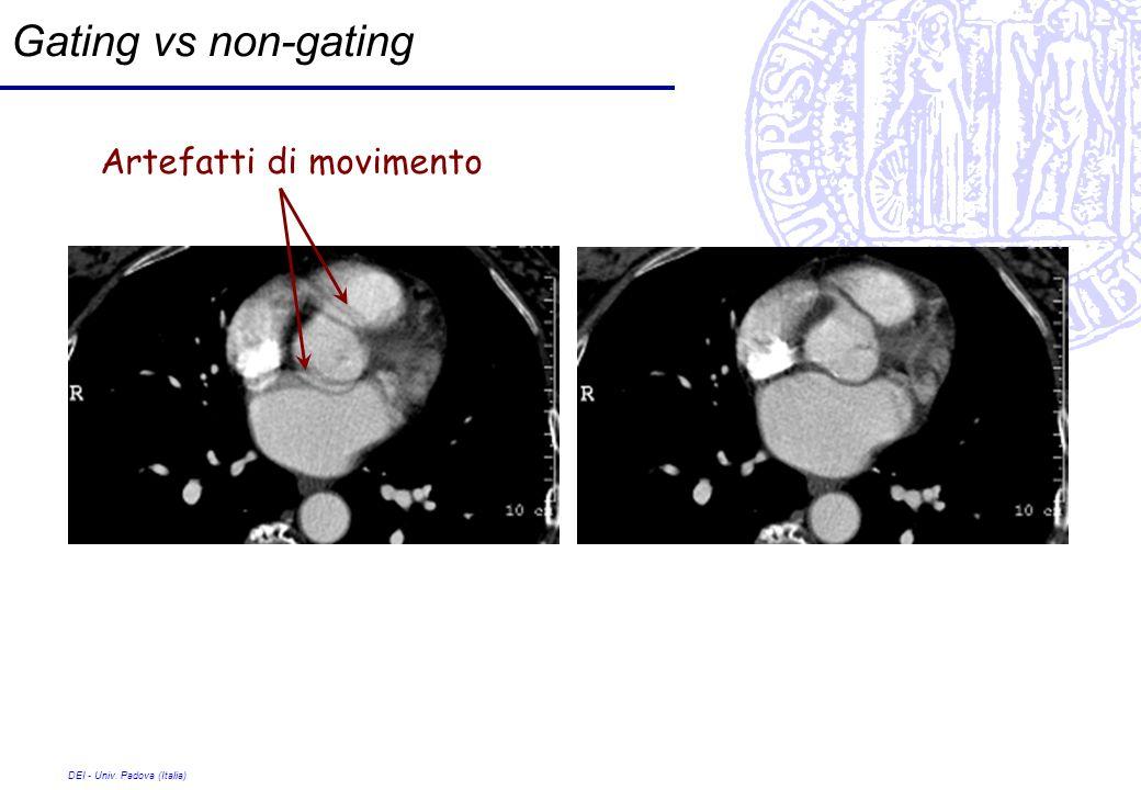 DEI - Univ. Padova (Italia) Gating vs non-gating Artefatti di movimento
