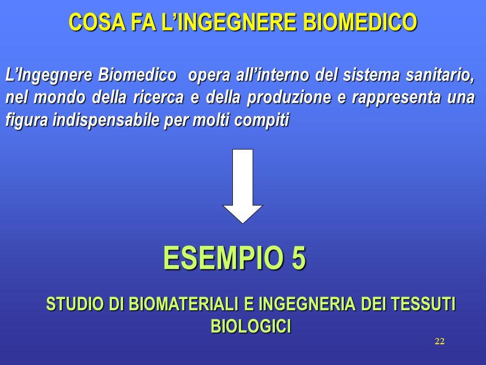 22 LIngegnere Biomedico opera allinterno del sistema sanitario, nel mondo della ricerca e della produzione e rappresenta una figura indispensabile per