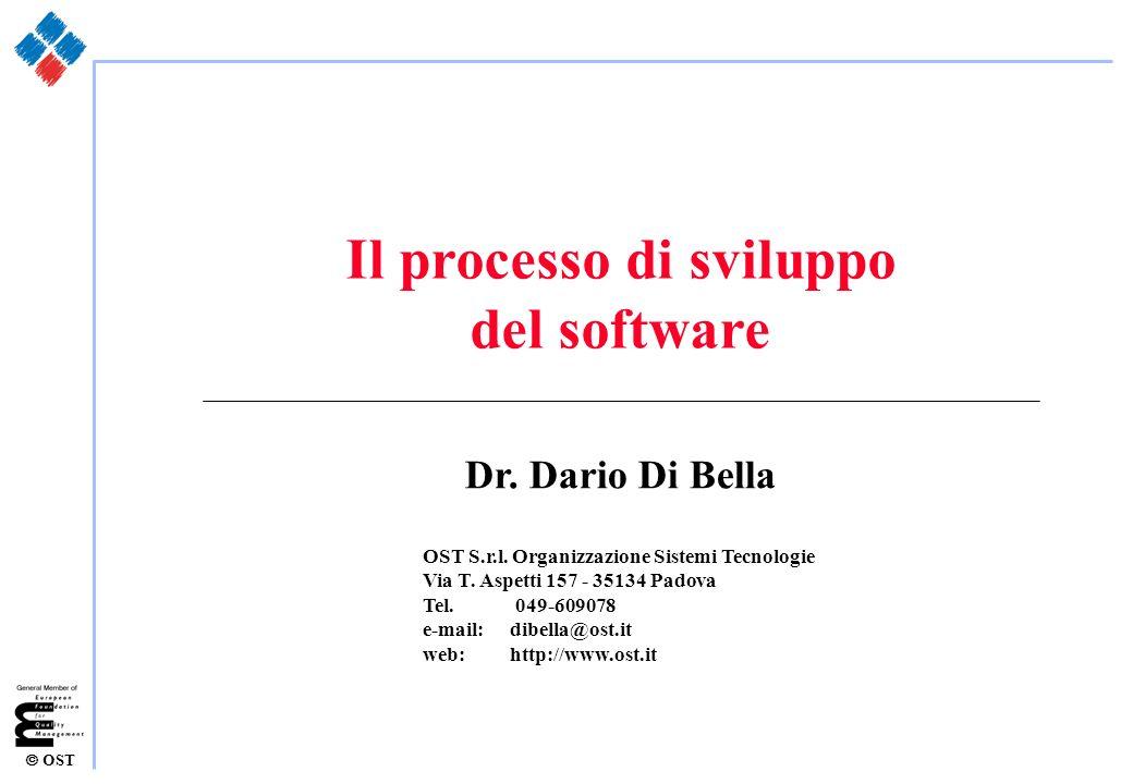 OST Il processo di sviluppo del software Dr. Dario Di Bella OST S.r.l. Organizzazione Sistemi Tecnologie Via T. Aspetti 157 - 35134 Padova Tel. 049-60