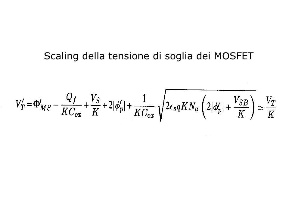Scaling della tensione di soglia dei MOSFET