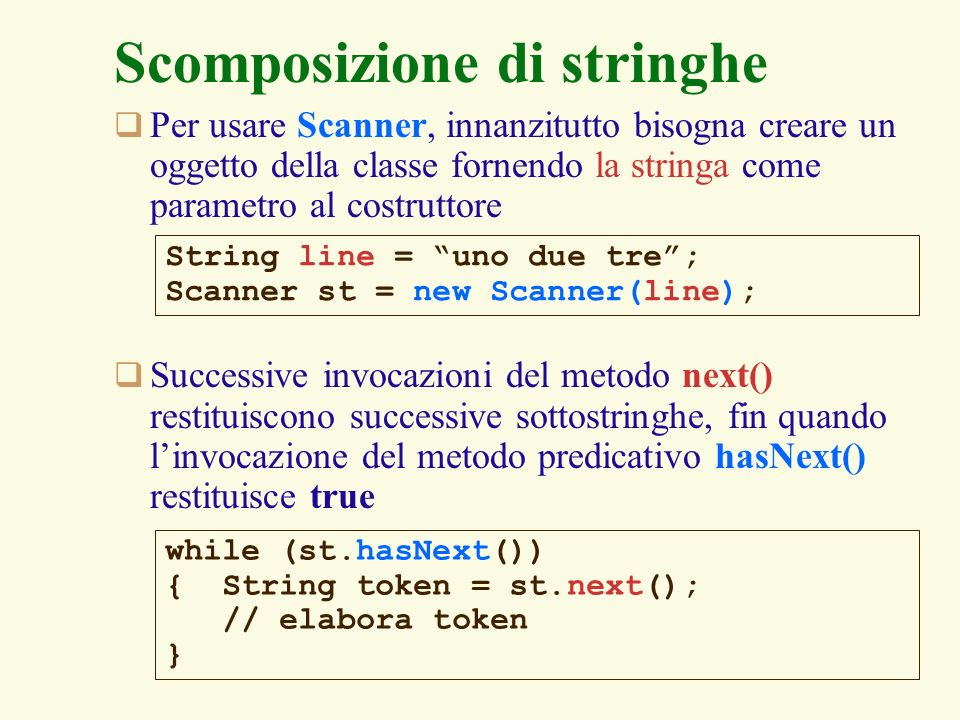 14 Complementi di sintassi Java