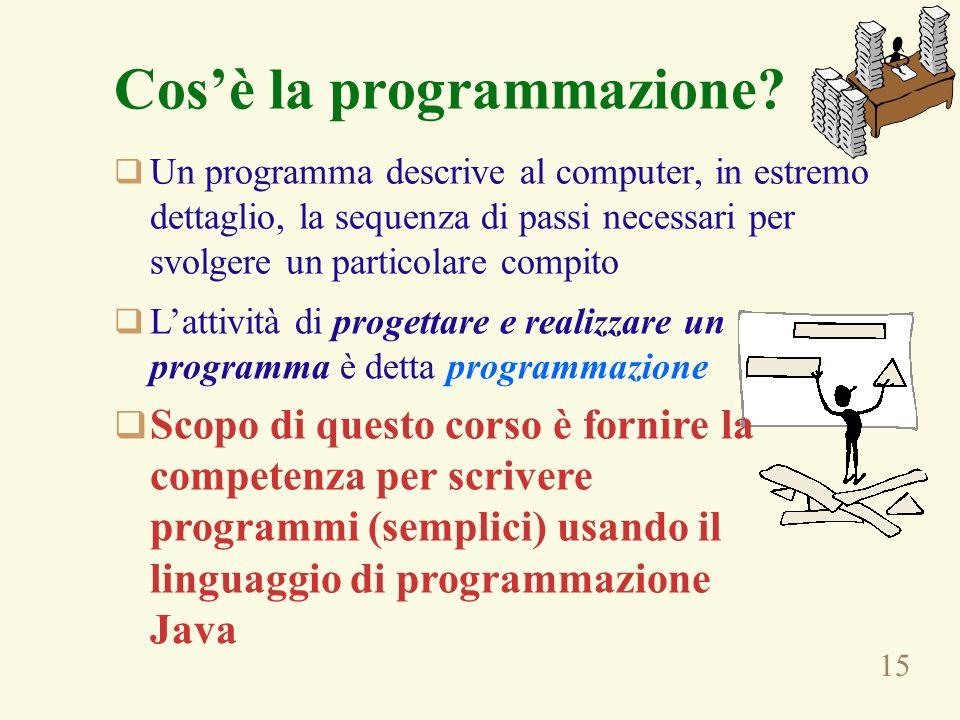 15 Cosè la programmazione.