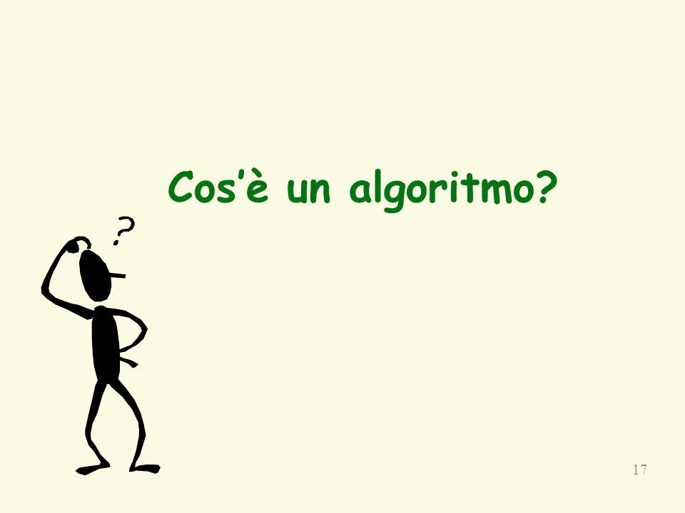 17 Cosè un algoritmo