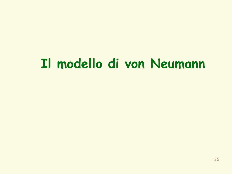 26 Il modello di von Neumann