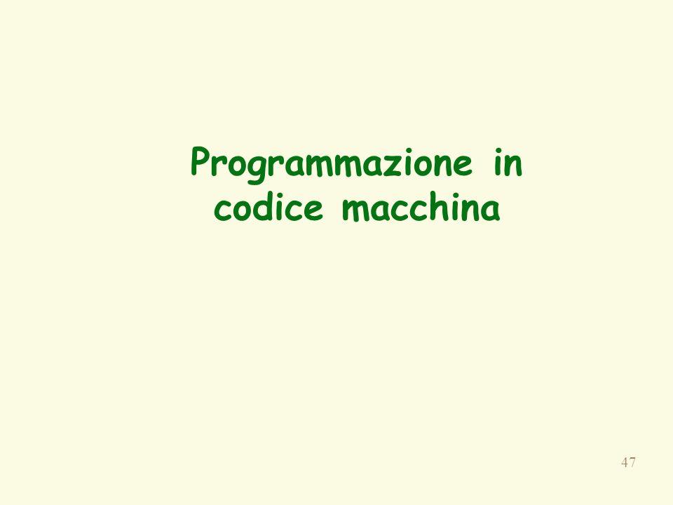 47 Programmazione in codice macchina