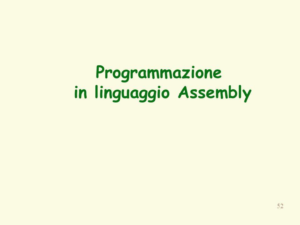 52 Programmazione in linguaggio Assembly