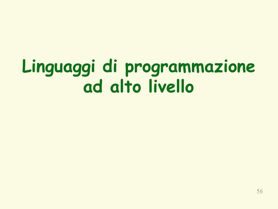 56 Linguaggi di programmazione ad alto livello