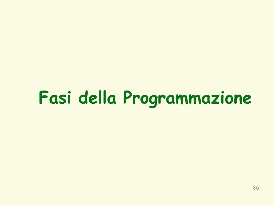 86 Fasi della Programmazione