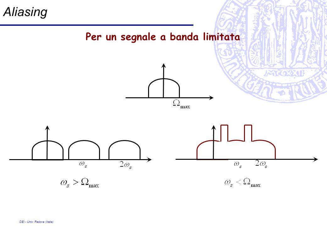 DEI - Univ. Padova (Italia) Aliasing Per un segnale a banda limitata