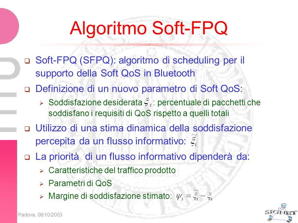 Padova, 06/10/2003 Soddisfazione stimata