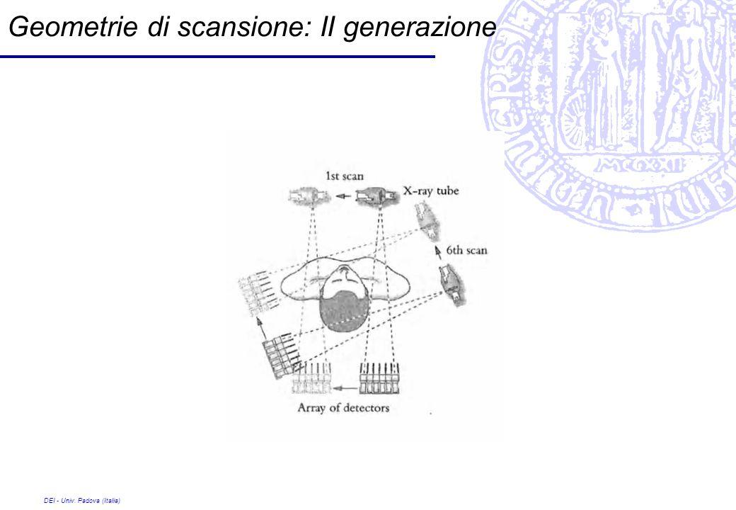 DEI - Univ. Padova (Italia) Geometrie di scansione: II generazione