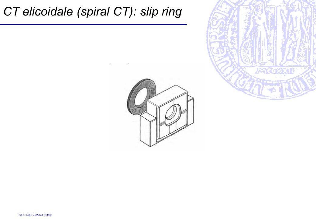 DEI - Univ. Padova (Italia) CT elicoidale (spiral CT): slip ring