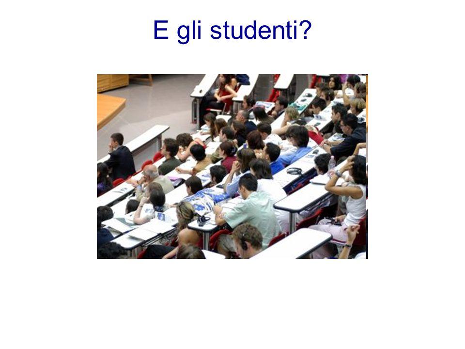 E gli studenti?