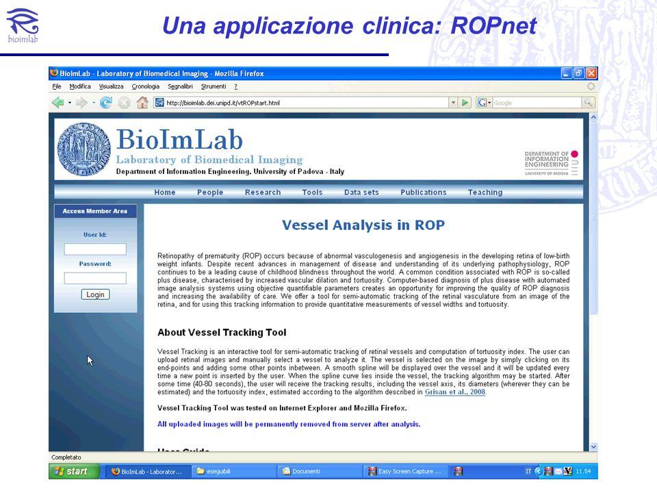 Una applicazione clinica: ROPnet