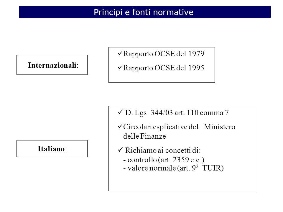 Rapporto OCSE del 1979 Rapporto OCSE del 1995 Internazionali: Italiano: D.