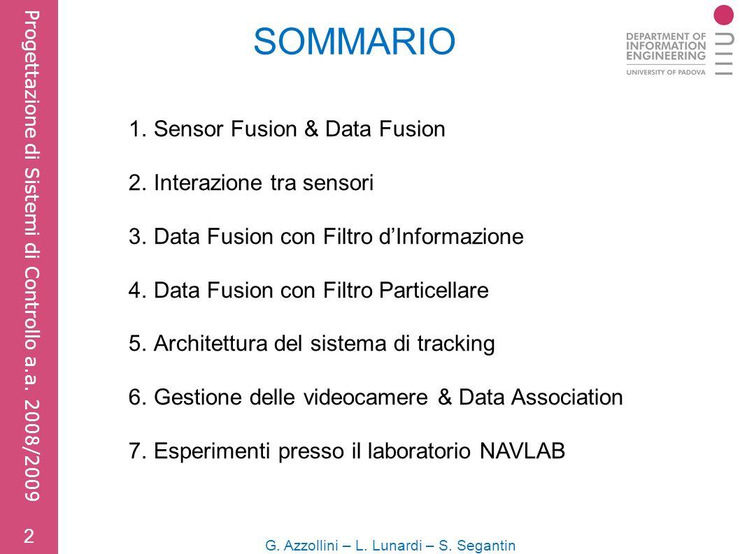 SOMMARIO G. Azzollini – L. Lunardi – S. Segantin 2 Progettazione di Sistemi di Controllo a.a.