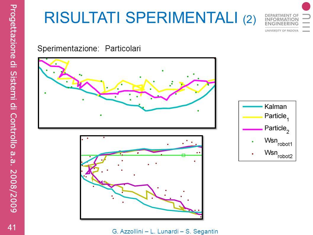 Sperimentazione: Particolari 41 G. Azzollini – L.