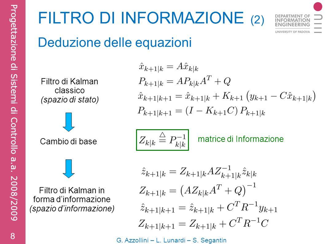 FILTRO DI INFORMAZIONE (2) 8 G. Azzollini – L. Lunardi – S.