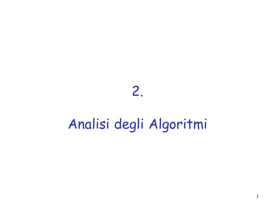 2 Algoritmi e strutture dati - Definizioni Struttura dati: organizzazione sistematica dei dati e del loro accesso Algoritmo: procedura suddivisa in passi che, eseguiti in sequenza, consentono di eseguire un compito in tempo finito Esempio: Max.