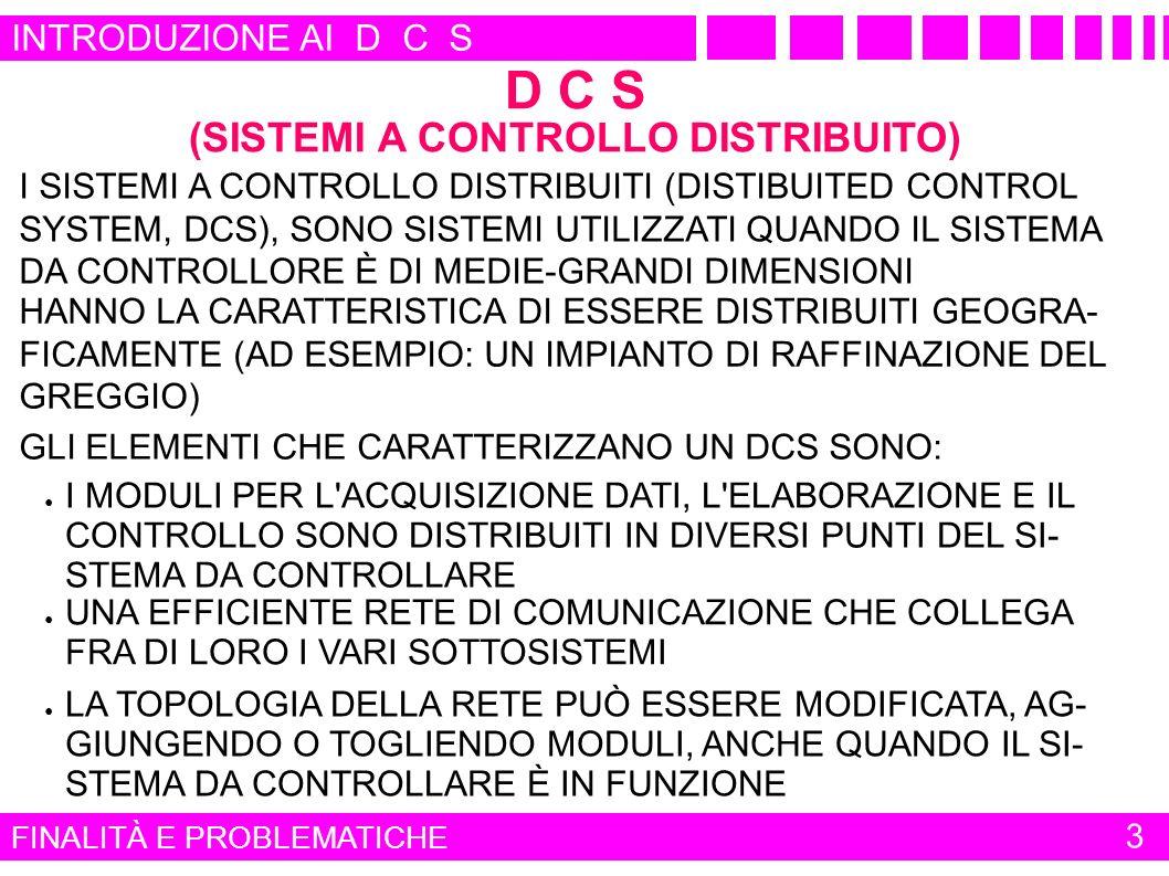 FINALITÀ E PROBLEMATICHE 14 INTRODUZIONE AI D C S DATASHEET (2)