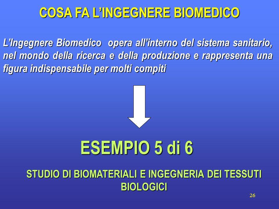 26 LIngegnere Biomedico opera allinterno del sistema sanitario, nel mondo della ricerca e della produzione e rappresenta una figura indispensabile per