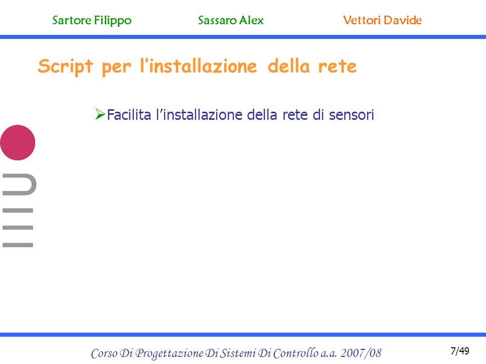 Sequenza di curve a raggio minimo Corso Di Progettazione Di Sistemi Di Controllo a.a.