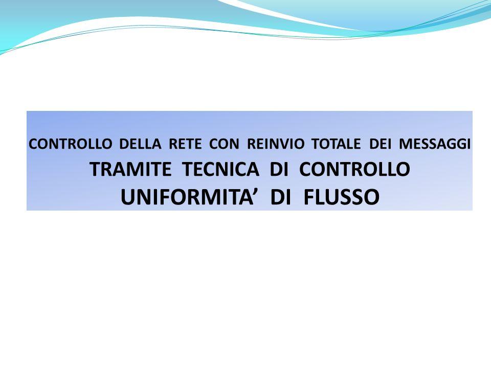 CONTROLLO DELLA RETE CON REINVIO TOTALE DEI MESSAGGI TRAMITE TECNICA DI CONTROLLO UNIFORMITA DI FLUSSO