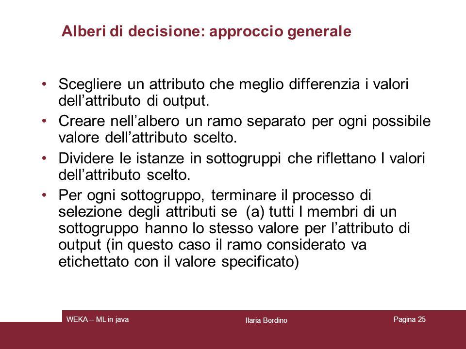 Alberi di decisione: approccio generale (b) Il sottogruppo contiene un singolo nodo oppure non è più possibile individuare un attributo in base al quale fare differenziazioni.