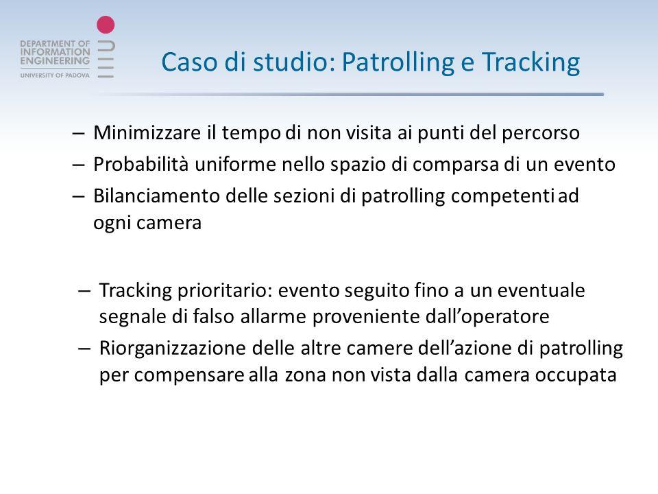 Tracking: implementazione Evento generato fuori linea, un circuito logico simula il sistema di visione.