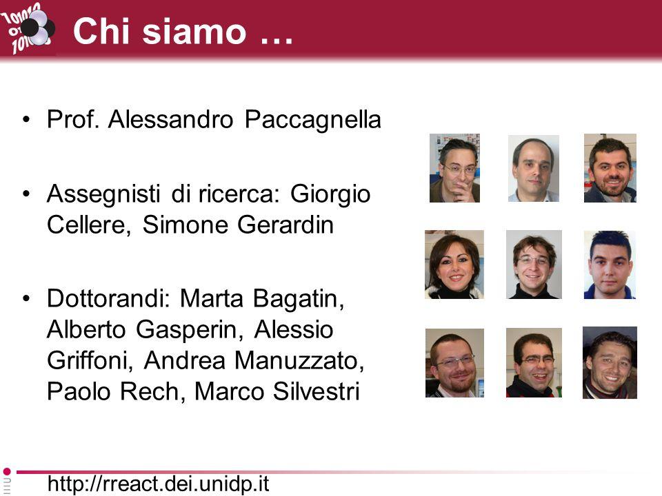 http://rreact.dei.unidp.it Chi siamo … Prof.