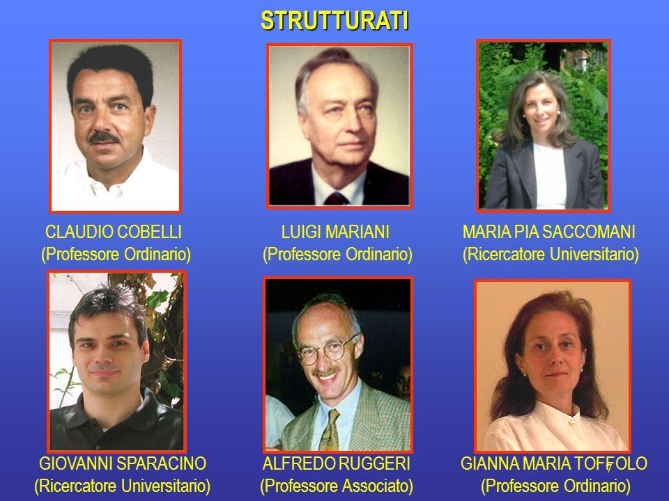 7STRUTTURATI CLAUDIO COBELLI (Professore Ordinario) ALFREDO RUGGERI (Professore Associato) GIOVANNI SPARACINO (Ricercatore Universitario) GIANNA MARIA