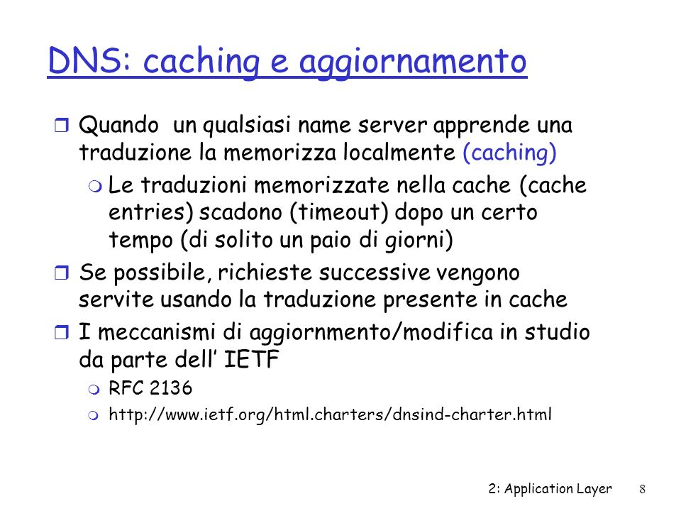 2: Application Layer29 Chapter 2: Summary r typical request/reply message exchange: m client requests info or service m server responds with data, status code r message formats: m headers: fields giving info about data m data: info being communicated Most importantly: learned about protocols r control vs.