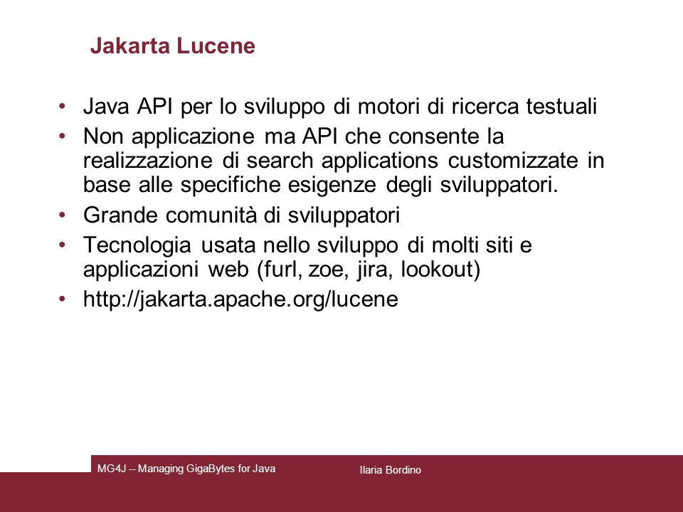 Nutch: configurazione http.agent.description Further description of our bot- this text is used in the User-Agent header.