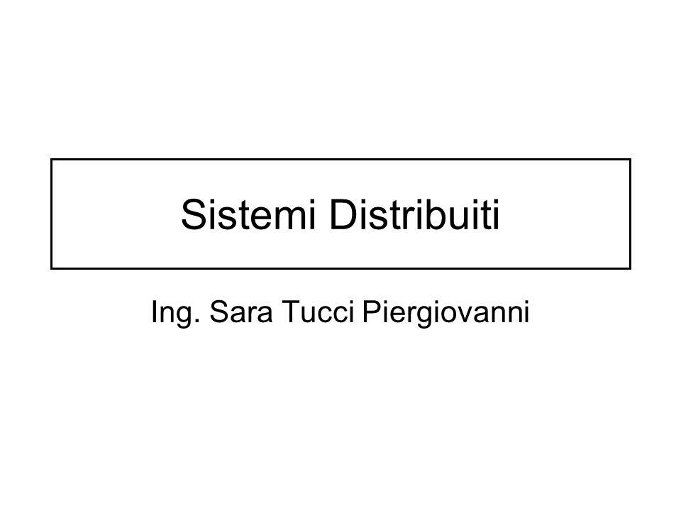 Sistemi Distribuiti Ing. Sara Tucci Piergiovanni