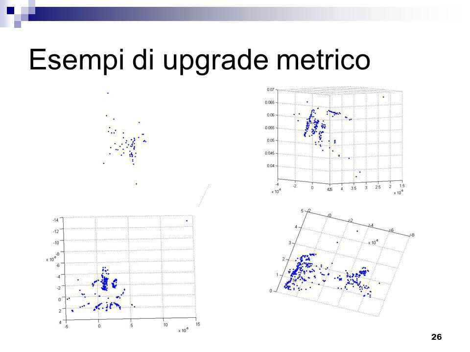 25 Diretto Il metodo stratificato restituisce risultati poco accettabili È stata tentata unaltra strada, che esula dal programma del corso: dual quadr