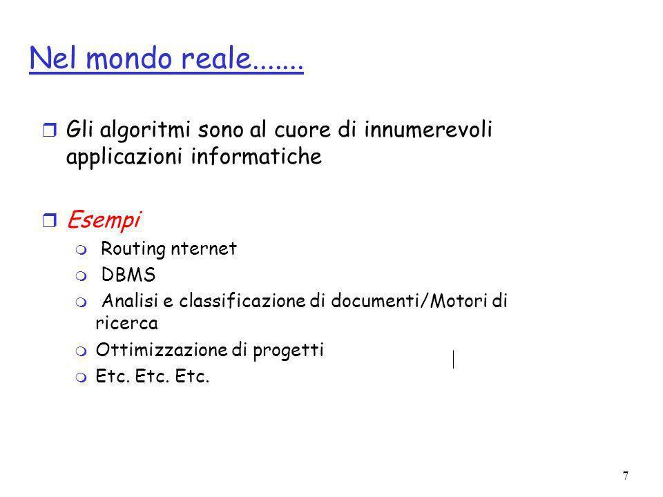 38 Soluzione equazioni di ricorreza per Merge Sort r Base: r Ipotesi induttiva: r Passo induttivo: