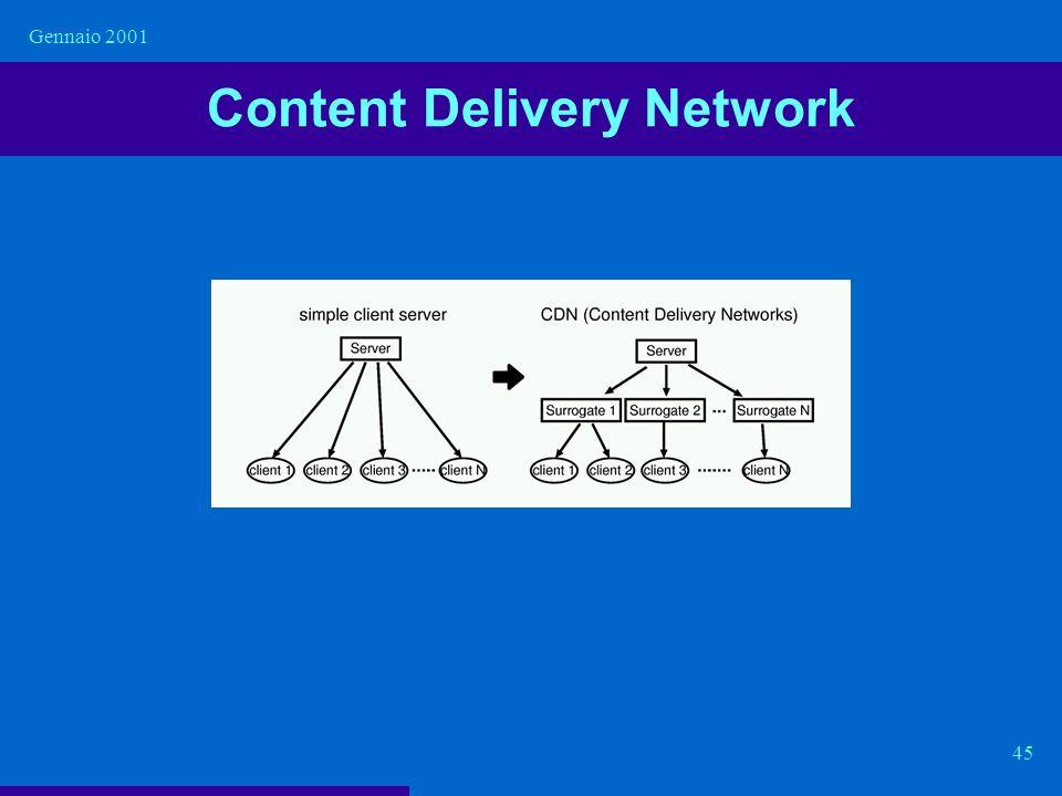 Gennaio 2001 45 Content Delivery Network