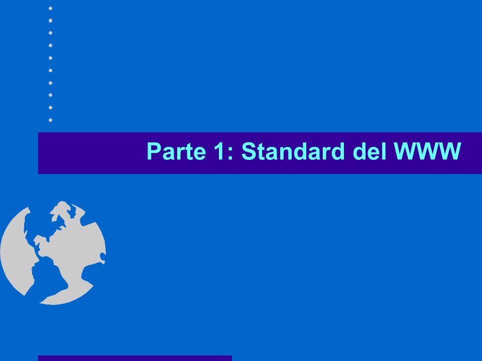 Gennaio 2001 6 Ingredienti del WWW Meccanismi di comunicazione e naming di Internet –TCP/IP –DNS Tre nuovi standard –Sistema di indirizzamento delle risorse URL –Linguaggio HTML –Protocollo HTTP Sistema client-server –Client (Browser) –Server Web