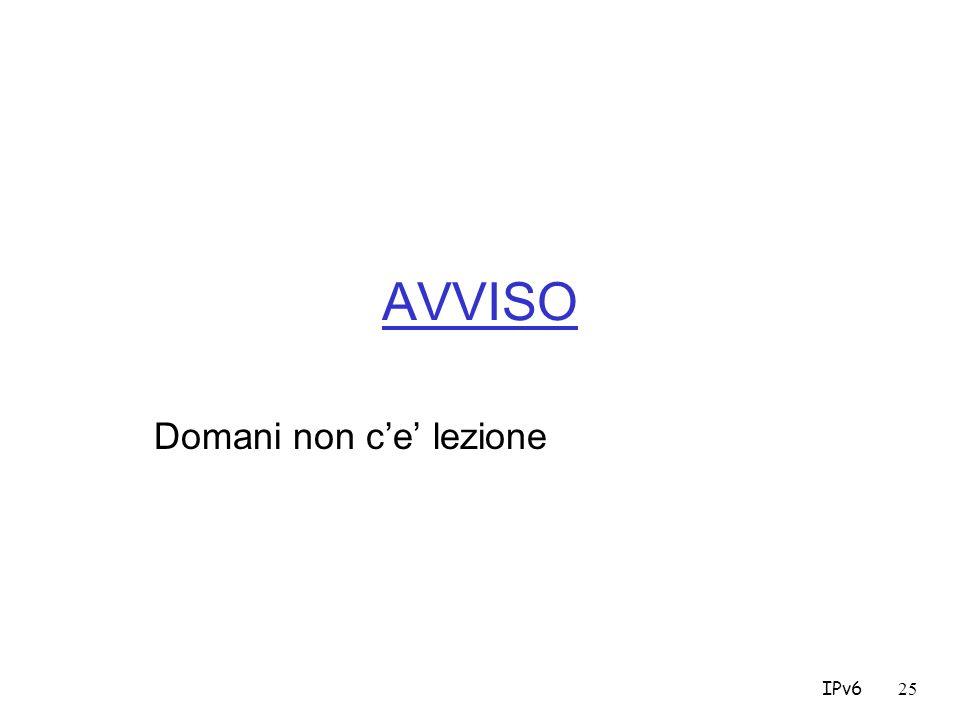 IPv625 AVVISO Domani non ce lezione
