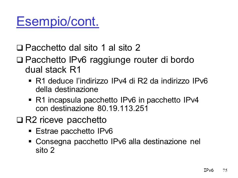 IPv675 Esempio/cont.