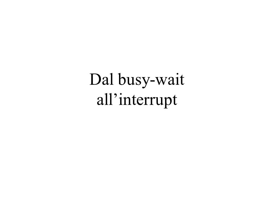 Dal busy-wait allinterrupt
